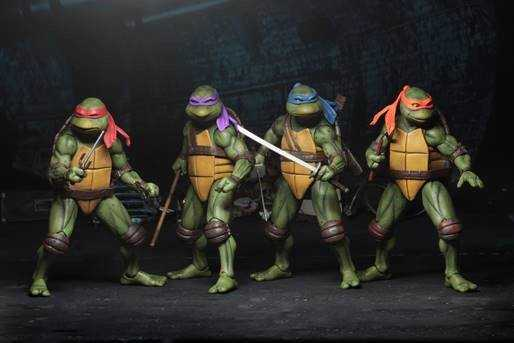 TEENAGE MUTANT NINJA TURTLES 1990 MOVIE LEONARDO RAPHAEL MICHELANGELO DONATELLO 7 IN