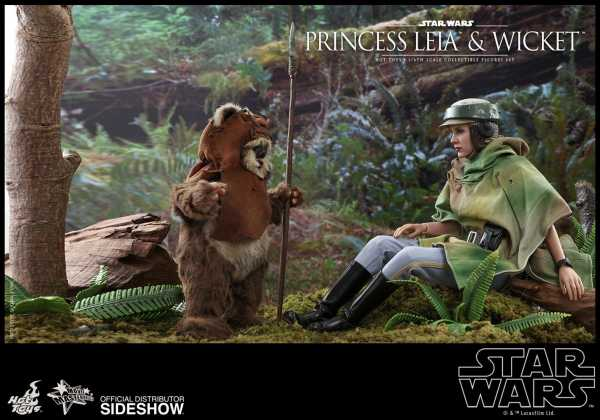 VORBESTELLUNG ! Star Wars Episode VI Movie Masterpiece Doppelpack 1/6 Princess Leia & Wicket