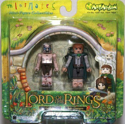 Lord Of The Rings Minimates Gollum & Sam Gamgee Minifigure 2-Pack