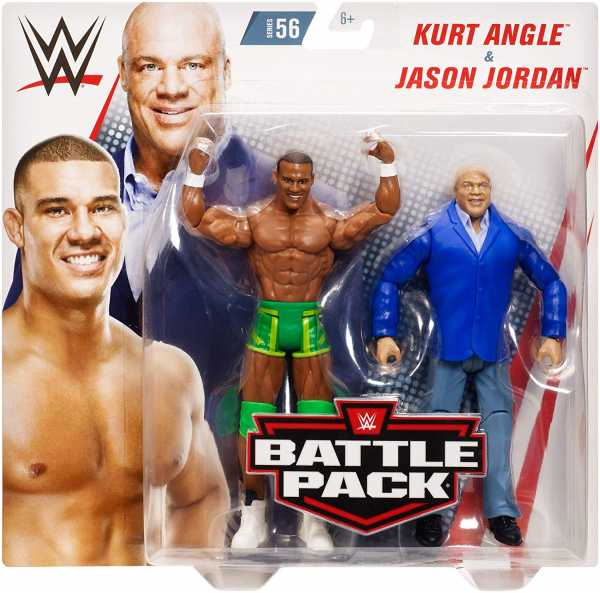 WWE CORE KURT ANGLE & JASON JORDAN ACTIONFIGUREN 2-PACK