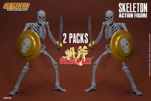 Golden Axe 1/12 Skeleton Soldier 18 cm Actionfiguren 2-Pack