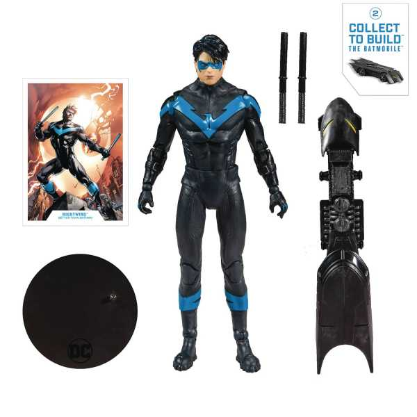 DC COLLECTOR MODERN NIGHTWING 7 INCH ACTIONFIGUR