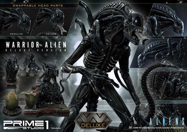 VORBESTELLUNG ! Aliens Premium Masterline Series Warrior Alien 67 cm Statue Deluxe Bonus Version