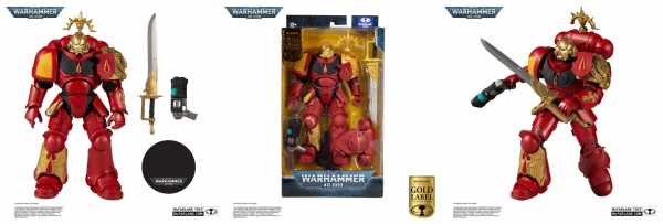 VORBESTELLUNG ! Warhammer 40k Blood Angels Primaris Lieutenant (Gold Label Series) 18cm Actionfigur