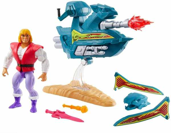 Masters of the Universe Origins 2020 Prince Adam with Sky Sled 14 cm Actionfigur