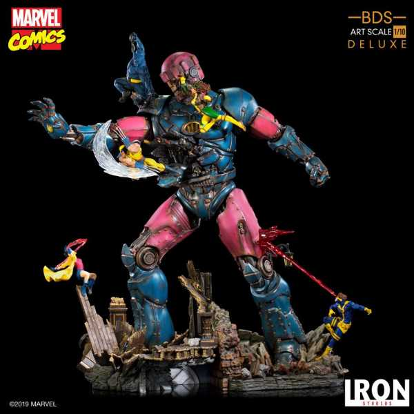 VORBESTELLUNG ! Marvel Comics BDS Art Scale Statue 1/10 X-Men VS Sentinel DELUXE 90 cm