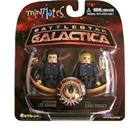 Battlestar Galactica Series3 Minimates CAG Kara Thrace & Commander Lee Adama