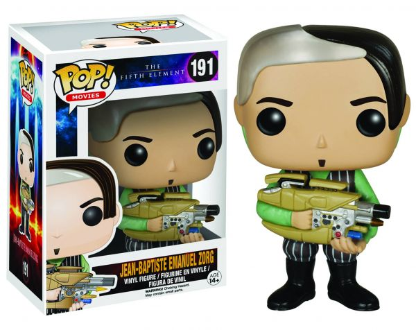 POP FIFTH ELEMENT ZORG VINYL FIGUR defekte Verpackung