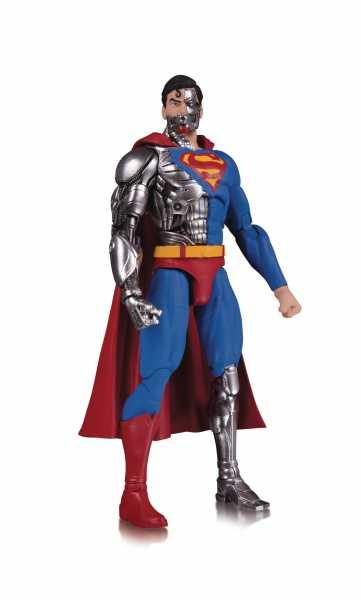 DC ESSENTIALS CYBORG SUPERMAN ACTIONFIGUR