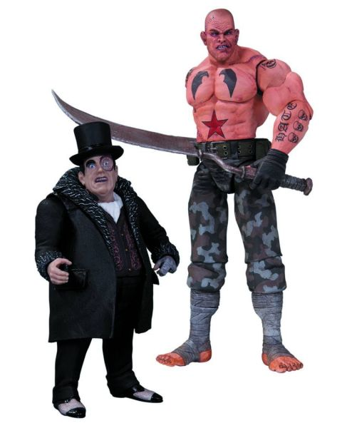 BATMAN ARKHAM CITY SICKLE AND PENGUIN ACTIONFIGUREN 2 PACK