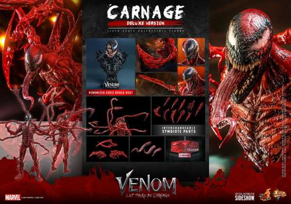 AUF ANFRAGE ! Venom Let There Be Carnage Movie MP Series 1/6 Carnage 43 cm PVC Actionfigur Deluxe V.