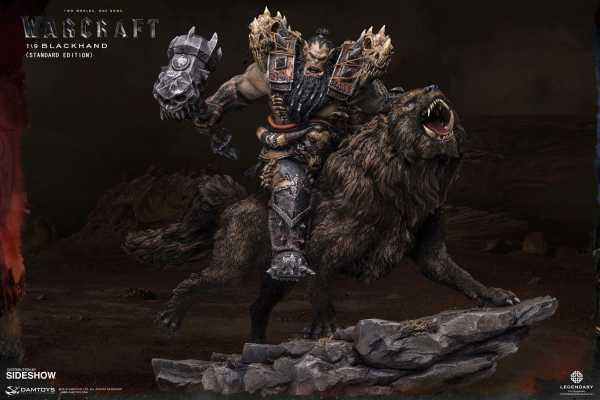 VORBESTELLUNG ! Warcraft: The Beginning 1/9 Blackhand Riding Wolf (Standard Version) 40 cm Statue