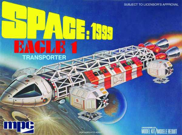 SPACE 1999 EAGLE-1 TRANSPORTER 1/72 SCALE MODELLBAUSATZ