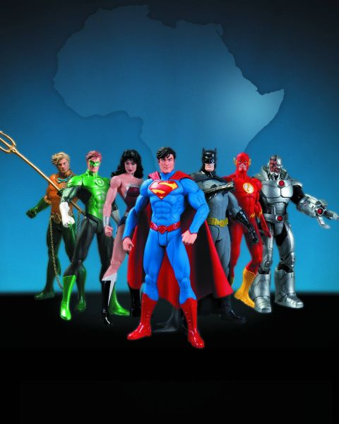 JUSTICE LEAGUE THE NEW 52 WE CAN BE HEROES 7 PACK ACTIONFIGUREN