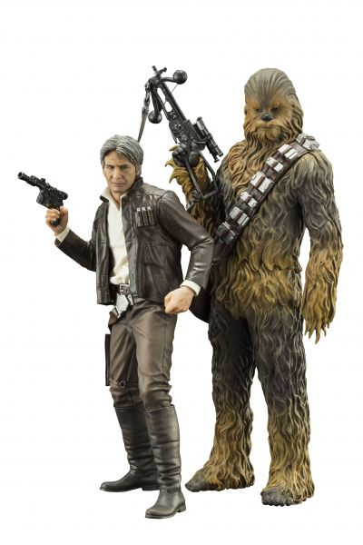 STAR WARS EPISODE 7 HAN SOLO & CHEWBACCA ARTFX+ STATUE 2-PACK