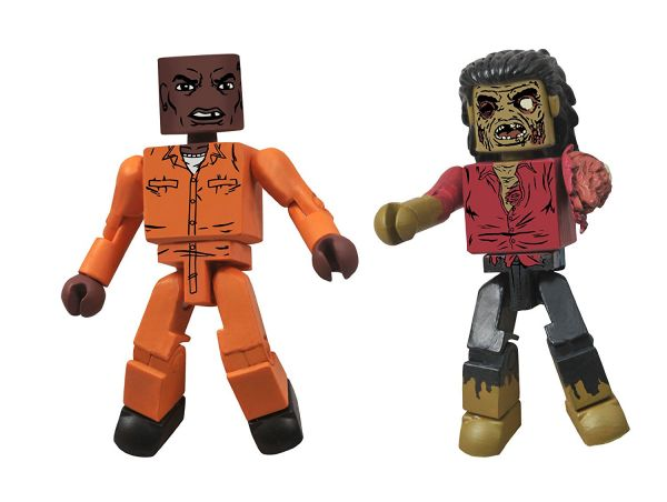 WALKING DEAD SERIES 3 MINIMATES DEXTER/DREADLOCK ZOMBIE 2-PACK