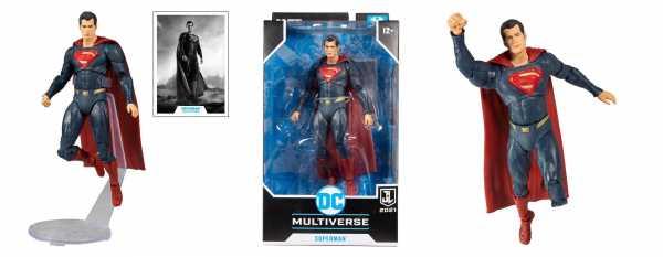 VORBESTELLUNG ! DC Justice League Movie Superman (Blue/Red Suit) 18 cm Actionfigur