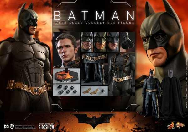 VORBESTELLUNG ! Batman Begins Movie Masterpiece 1/6 Batman Hot Toys Exclusive 32 cm Actionfigur