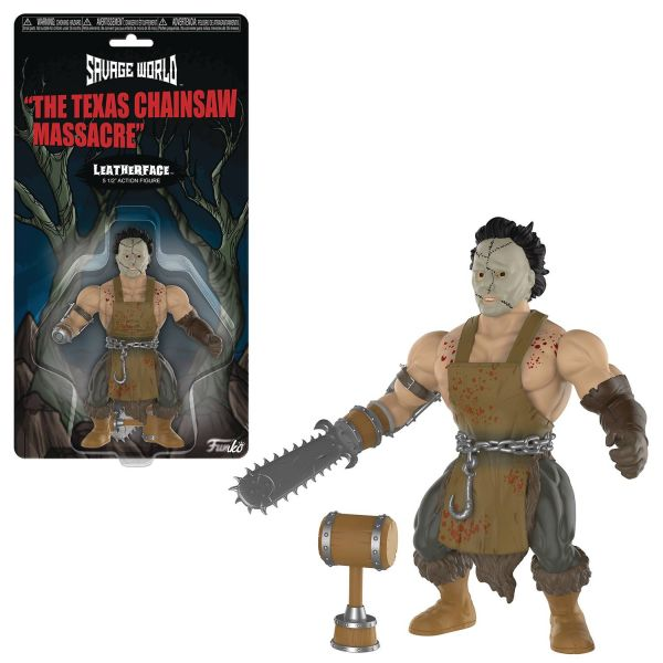 FUNKO SAVAGE WORLD TEXAS CHAINSAW MASSACRE LEATHERFACE ACTIONFIGUR
