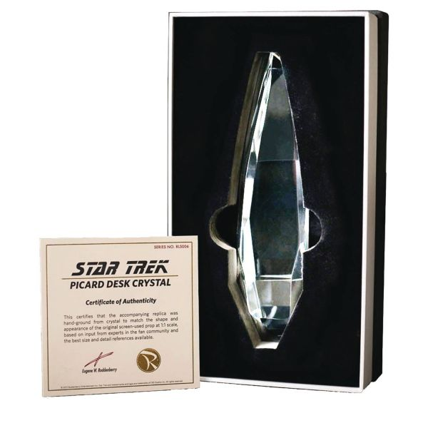 STAR TREK THE NEXT GENERATION PICARD DESK CRYSTAL PROP REPLICA