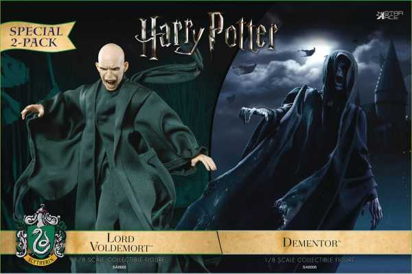 HARRY POTTER & THE GOBLET OF FIRE DEMENTOR WITH VOLDEMORT 1/8 COLLECTIBLE ACTIONFIGUREN 2-PACK
