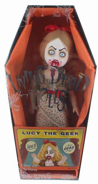 LIVING DEAD DOLLS SERIES 30 LUCY THE GEEK PUPPE