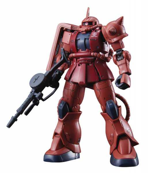 GUNDAM ORIGIN MS-06S ZAKU II CHAR RED COMET HG 1/144 MODELLBAUSATZ
