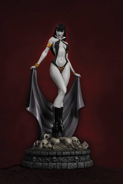 WOMEN DYNAMITE VAMPIRELLA STATUE BLACK&WHITE DIAMOND EYE EDITION