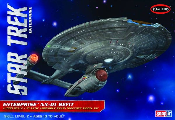 STAR TREK ENTERPRISE NX-01 REFIT 1/1000 SCALE MODELLBAUSATZ