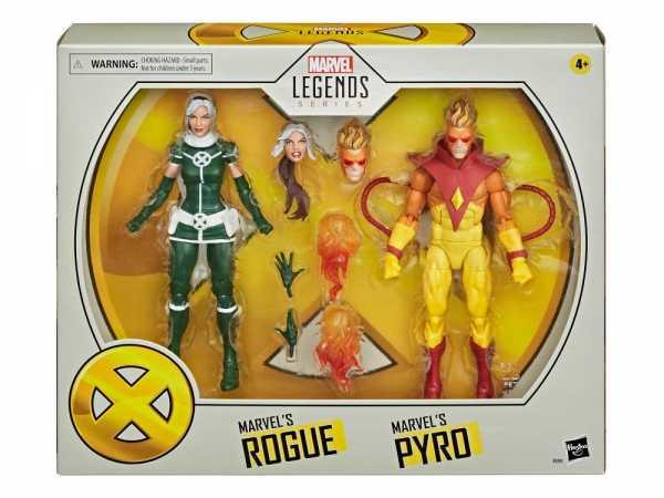 X-MEN MOVIE LEGENDS 6 INCH PYRO & ROGUE ACTIONFIGUREN 2-PACK