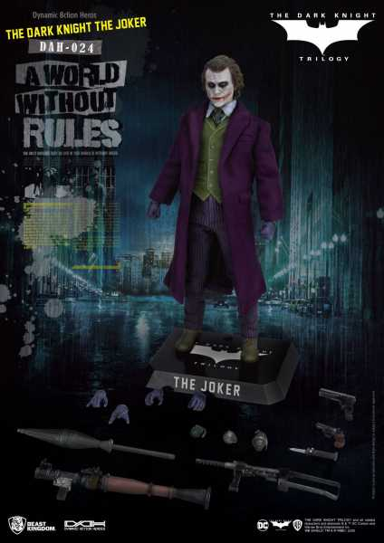 Batman The Dark Knight Dynamic 8ction Heroes 1/9 The Joker 21 cm Actionfigur