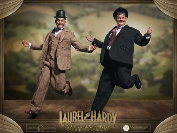 VORBESTELLUNG ! Laurel & Hardy 1/6 Classic Suits Limited Edition 30-33 cm Actionfiguren Doppelpack