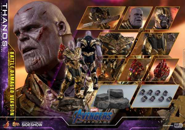 VORBESTELLUNG ! Avengers: Endgame Movie Masterpiece 1/6 Thanos Battle Damaged 42 cm Actionfigur