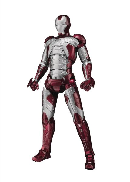MARVEL IRON MAN MARK V S.H.FIGUARTS ACTIONFIGUR WITH HALL OF ARMOR SET