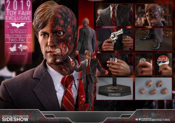 VORBESTELLUNG ! The Dark Knight Movie Masterpiece Actionfigur 1/6 Two-Face 2019 Toy Fair Exclusive
