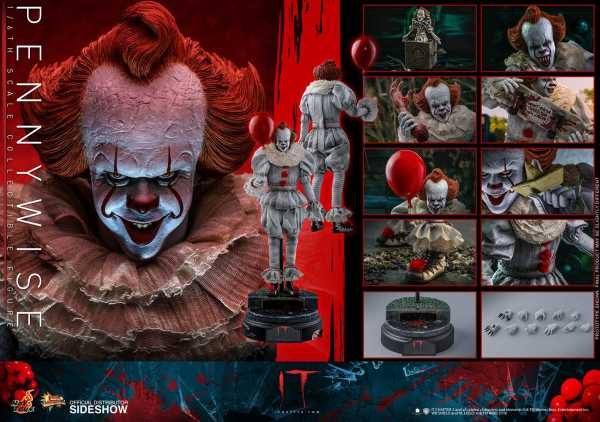 VORBESTELLUNG ! Es Kapitel 2 Movie Masterpiece Actionfigur 1/6 Pennywise 32 cm