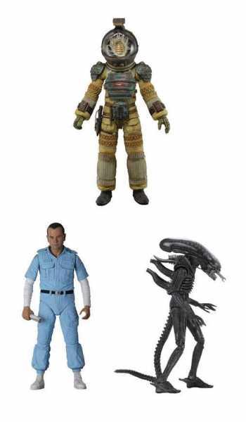 VORBESTELLUNG ! Alien 40th Anniversary 18 cm Actionfiguren Wave 3 Komplett-Set
