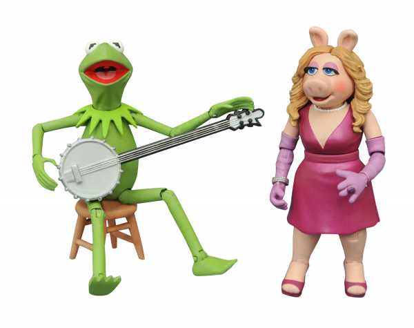 Muppets Best Of Series 1 Kermit & Miss Piggy Actionfiguren 2-Pack