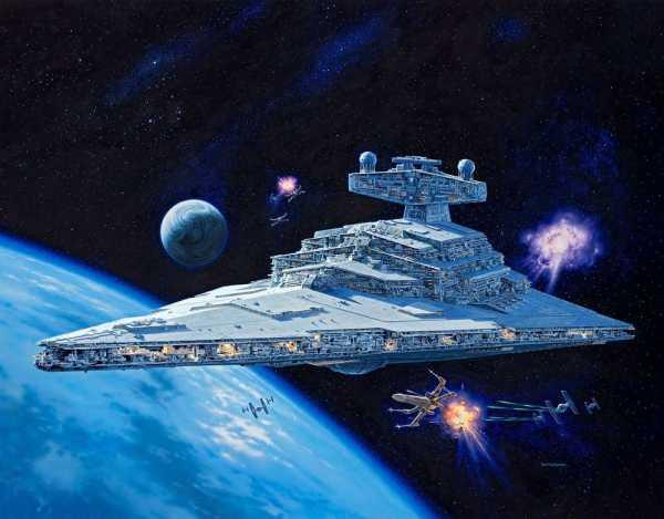 VORBESTELLUNG ! Star Wars 1/2700 Star Destroyer 59 cm Modellbausatz mit Sound & Leuchtfunktion