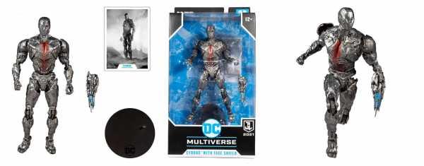 VORBESTELLUNG ! DC Justice League Movie Cyborg (Helmet) 18 cm Actionfigur