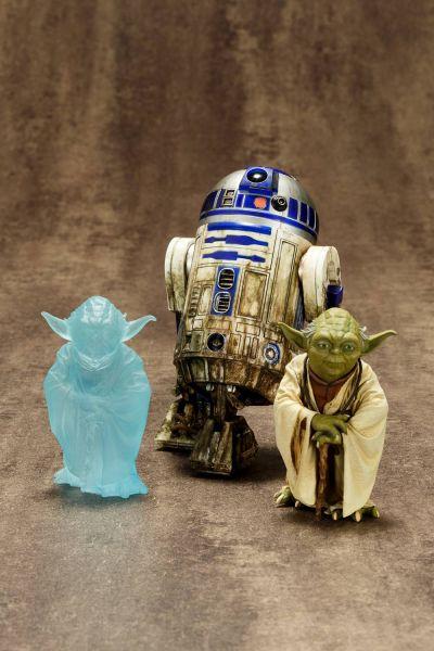 STAR WARS YODA & R2-D2 DAGOBAH ARTFX+ STATUE 2-PACK