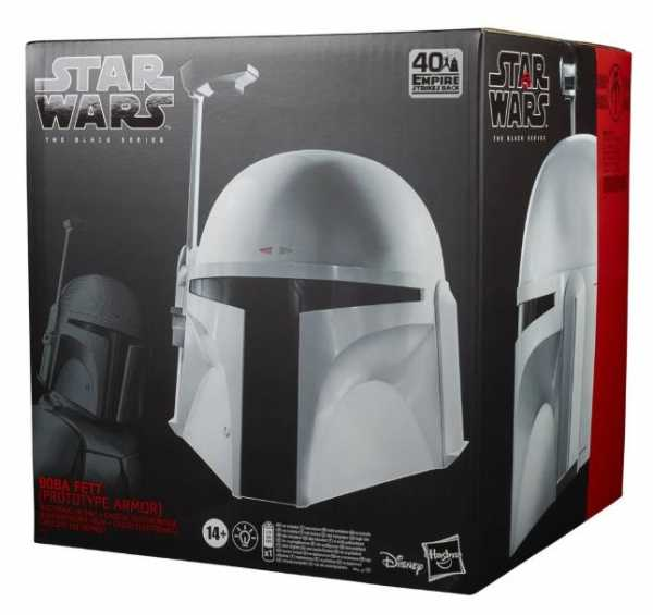 VORBESTELLUNG ! Star Wars The Black Series Boba Fett (Prototype Armor) Premium Electronic Helm Repli