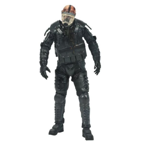THE WALKING DEAD TV SERIES 4 GAS MASK ZOMBIE ACTIONFIGUR