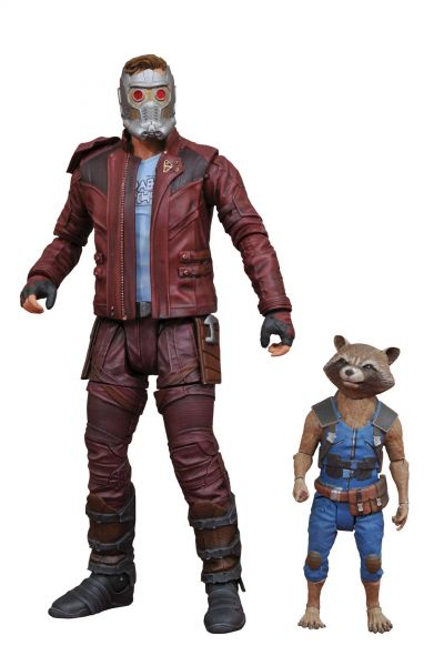 MARVEL SELECT GUARDIANS OF THE GALAXY 2 STAR-LORD & ROCKET ACTIONFIGUR