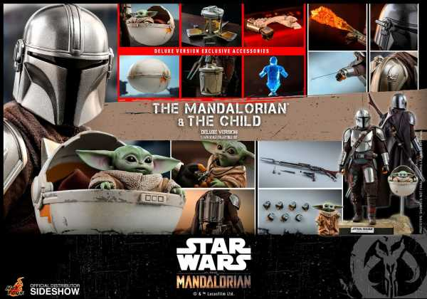 VORBESTELLUNG ! Star Wars The Mandalorian 1/6 Mandalorian & Child Deluxe 30 cm Actionfiguren 2-Pack