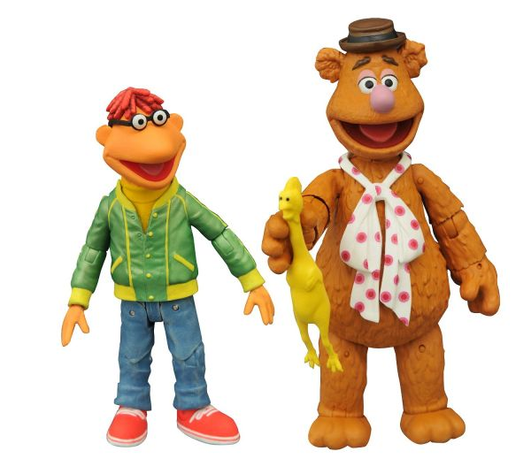 MUPPETS SELECT FOZZIE WITH SCOOTER ACTIONFIGUREN-SET