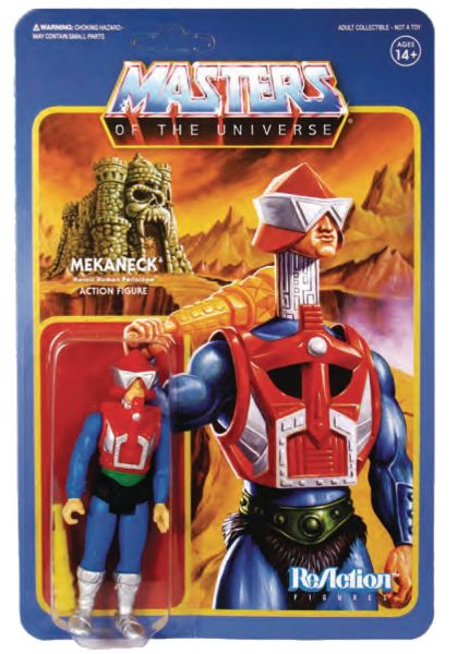 MASTERS OF THE UNIVERSE 10 cm REACTION WAVE 4 MEKANECK ACTIONFIGUR