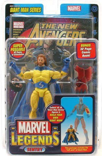 MARVEL LEGENDS SENTRY BEARDED VARIANT WALMART EXCLUSIVE ACTIONFIGUR