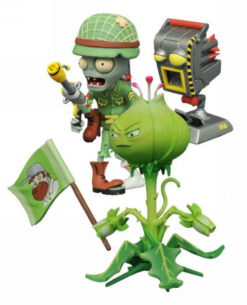 PLANTS V ZOMBIES GW2 SELECT SERIES 1 FOOT SOLDIER ZOMBIE & WEED ACTIONFIGUR