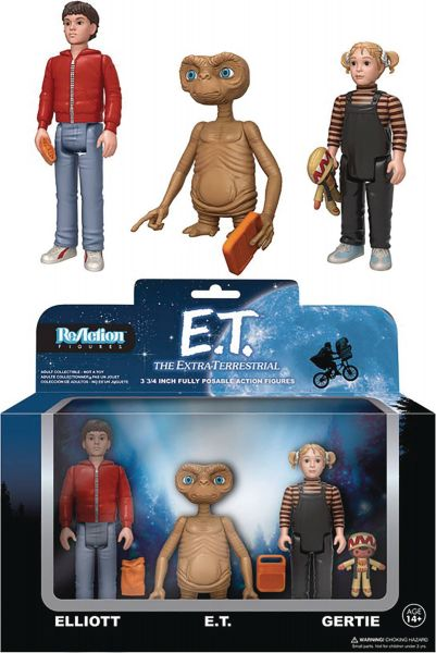 REACTION E.T. 3-PACK FIGUREN SET